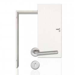 Innentür-Komplettset Esche Weiss CPL Tür mit runder Zarge und Drücker