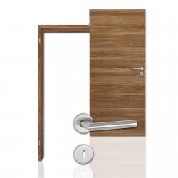 Innentür-Komplettset Cross Nussbaum CPL Tür mit runder Zarge und Drücker