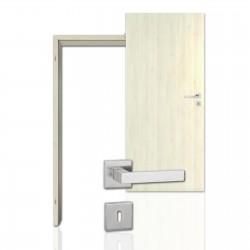 Innentür-Komplettset Aland Pinie Polar CPL Tür mit runder Zarge und eckigem Drücker