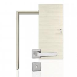 Innentür-Komplettset Cross Aland Pinie Polar CPL Tür mit runder Zarge und eckigem Drücker
