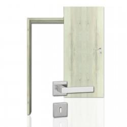 Innentür-Komplettset Eiche Nordic CPL Tür mit runder Zarge und eckigem Drücker