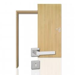Innentür-Komplettset Eiche Roheffekt CPL Tür mit runder Zarge und eckigem Drücker