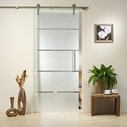 Glasschiebetür Komplettset GS 254 inkl. Griffstange & V1000 Schiebesystem