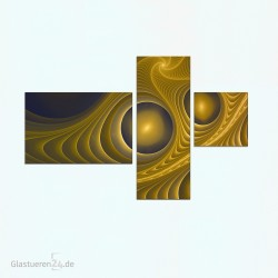 """3teiliges Glasbild 1097-1 """"Trance"""" Glasbilder / Küchenrückwände"""