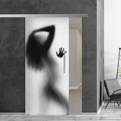 SlimLine45 Glasschiebetür 1037-1-Schatten Frau