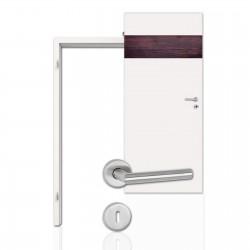 Wein-Design-Innentür Set Modell Q 25 O mit Weinroter-Holz-Optik inkl. Zarge – Scheba WEIN-DESIGN