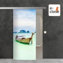 """Fotodruck Glasschiebetür """"Thailand"""" mit aut. E-Close System """"E-Close75"""" Digitaldruck E-Close75 - Fotodruck"""