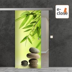 """Fotodruck Glasschiebetür """"Balance 2"""" mit aut. E-Close System """"E-Close75"""" Digitaldruck E-Close75 - Fotodruck"""