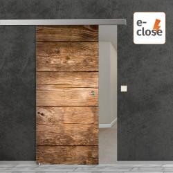 """Fotodruck Glasschiebetür """"Holz"""" mit aut. E-Close System """"E-Close75"""" Digitaldruck E-Close75 - Fotodruck"""