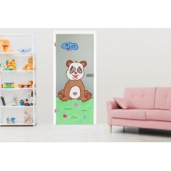 "Glastür ki-32-f ""Phil Panda"" Glastüren mit Kindermotiv"