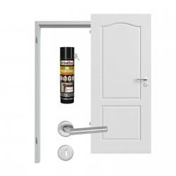 Innentür-Set Provence Typ 4002 B Ferrum RAL (7047) Zimmertür mit Zarge und Drücker Westag & Getalit