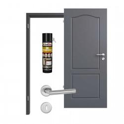 Innentür-Set Provence Typ 4002 B Achat RAL (7015) Zimmertür mit Zarge und Drücker Westag & Getalit