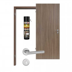 Innentür-Set Nussbaum Noce NU 736 PortaLit  Zimmertür mit Zarge und Drücker Westag & Getalit