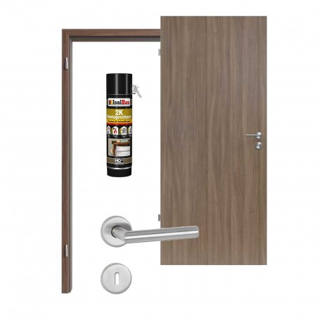 Innentür-Set Nussbaum Noce NU 736 PortaLit Zimmertür mit Zarge und Drücker Westag & Getalit Westag & Getalit