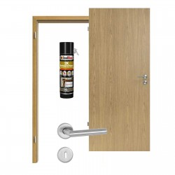 Innentür-Set Eiche Hell EiB 310 PortaLit  Zimmertür mit Zarge und Drücker Westag & Getalit