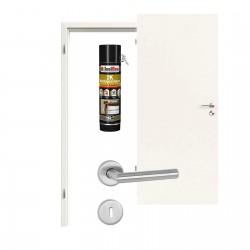 Innentür-Set Uni Weiß A 242  (RAL 9010)  PortaLit  Zimmertür mit Zarge und Drücker Westag & Getalit