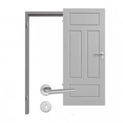 Innentür-Set Provence Typ 4004 Q Kitt RAL (7004) Zimmertür mit Zarge und Drücker Westag & Getalit