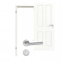 Innentür-Set Provence Typ 4004 Q Arctic Weiss RAL (9016) Zimmertür mit Zarge und Drücker Westag & Getalit