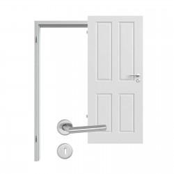 Innentür-Set Provence Typ 4004 Ferrum RAL (7047) Zimmertür mit Zarge und Drücker Westag & Getalit
