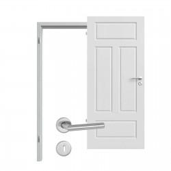 Innentür-Set Provence Typ 4004 Q Ferrum RAL (7047) Zimmertür mit Zarge und Drücker Westag & Getalit