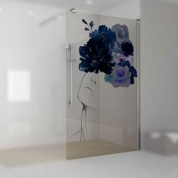 Walkin-Dusche mit Digitaldruck Juliana