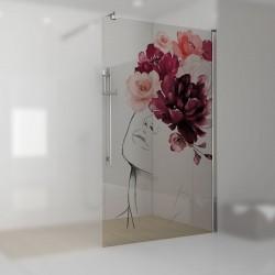 Walkin-Dusche mit Digitaldruck Julia