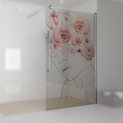 Walkin-Dusche mit Digitaldruck Julika