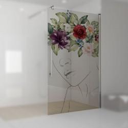 Walkin-Dusche mit Digitaldruck Juliette