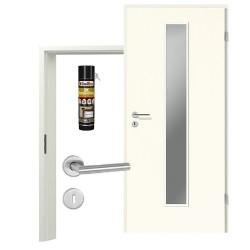 Innentür-Set Portalit LA 1 A223 Zimmertür mit Zarge und Drücker Westag & Getalit