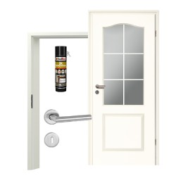 Innentür-Set Stiltuer Typ 4002 B LA 5Spr Zimmertür mit Zarge und Drücker Westag & Getalit