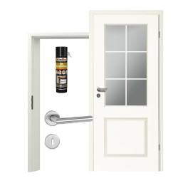 Innentür-Set Stiltuer Typ 4002  LA 3Spr Zimmertür mit Zarge und Drücker Westag & Getalit