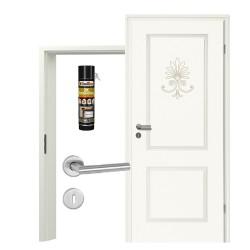 Innentür-Set Stiltuer Typ 4002 Palmette Zimmertür mit Zarge und Drücker Westag & Getalit