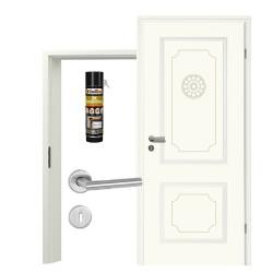 Innentür-Set Stiltuer Typ 4002 Rosette Zimmertür mit Zarge und Drücker Westag & Getalit