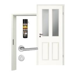 Innentür-Set Stiltuer Typ 4004 2LA  Zimmertür mit Zarge und Drücker Westag & Getalit