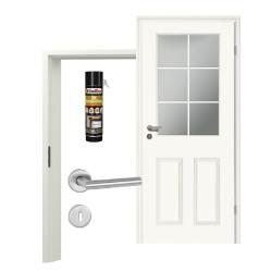 Innentür-Set Stiltuer Typ 4004 6LA  Zimmertür mit Zarge und Drücker Westag & Getalit
