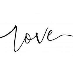 """Glasbild """" Love 1 """""""