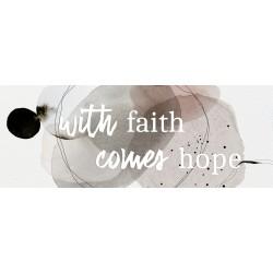 "Glasbild "" Faith Hope """