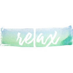 "Glasbild "" Relax """