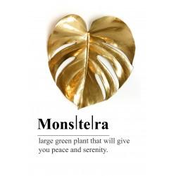 "Glasbild "" Monstera """