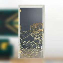 """Glastür 1143 """" Golden Lotus"""""""