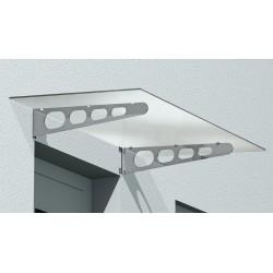 Glasvordach VD02 mit mattierter Oberfläche inkl. Edelstahl Halterungen