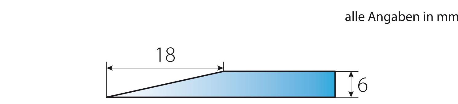 Detailansciht Facettenschliff der OPF-1 Kaminbodenplatte