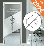 Schallschutz Glastür Komplettpaket ab 299€